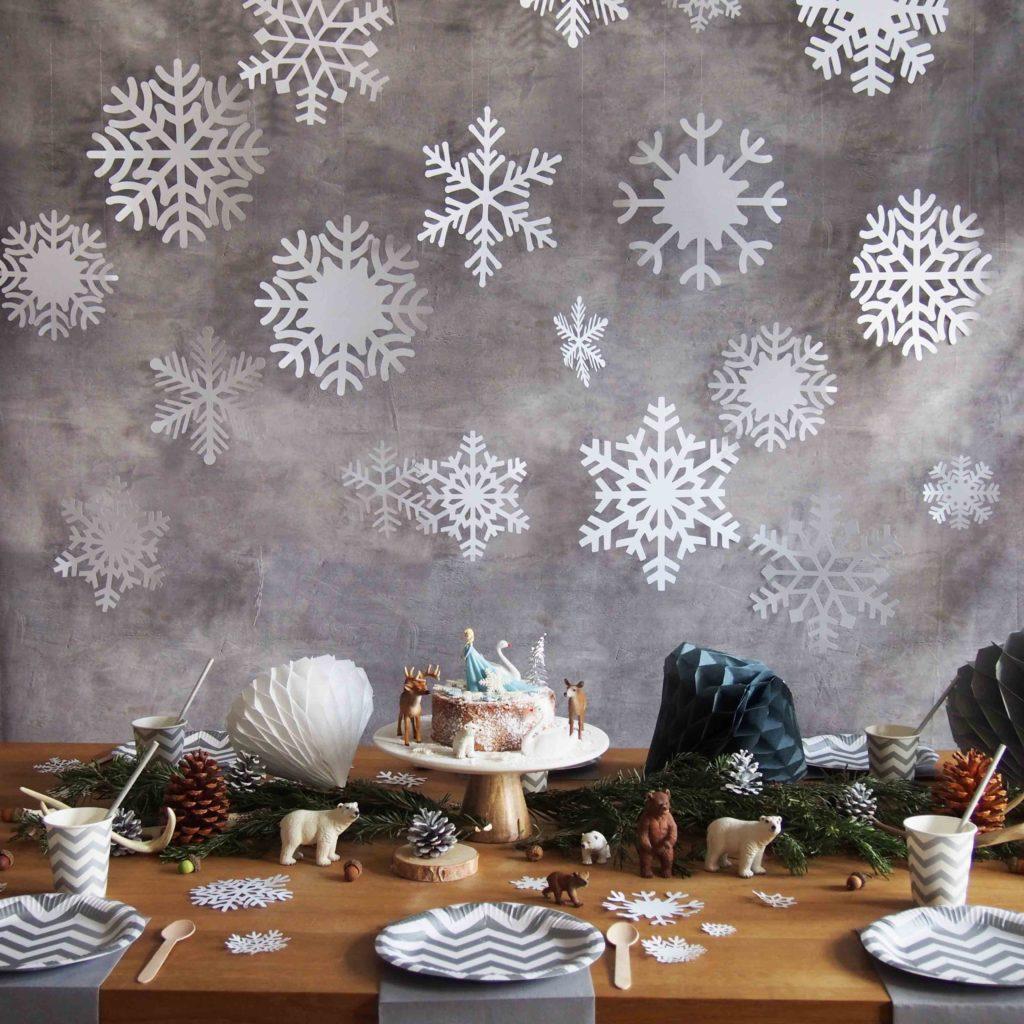 table anniversaire reine des neiges
