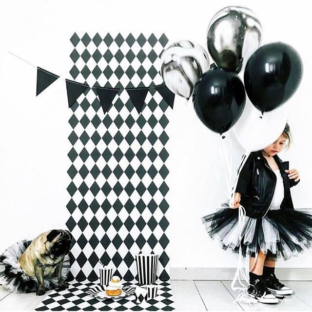 anniversaire deco noir et blanc