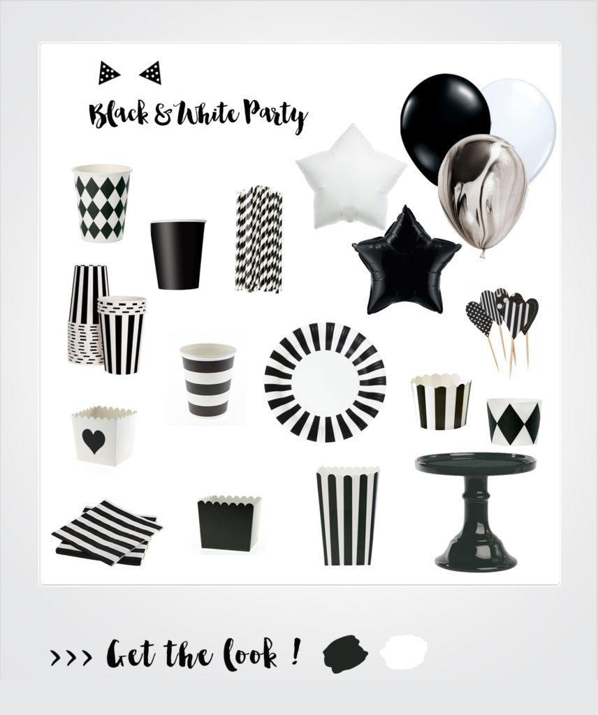 anniversaire theme noir et blanc
