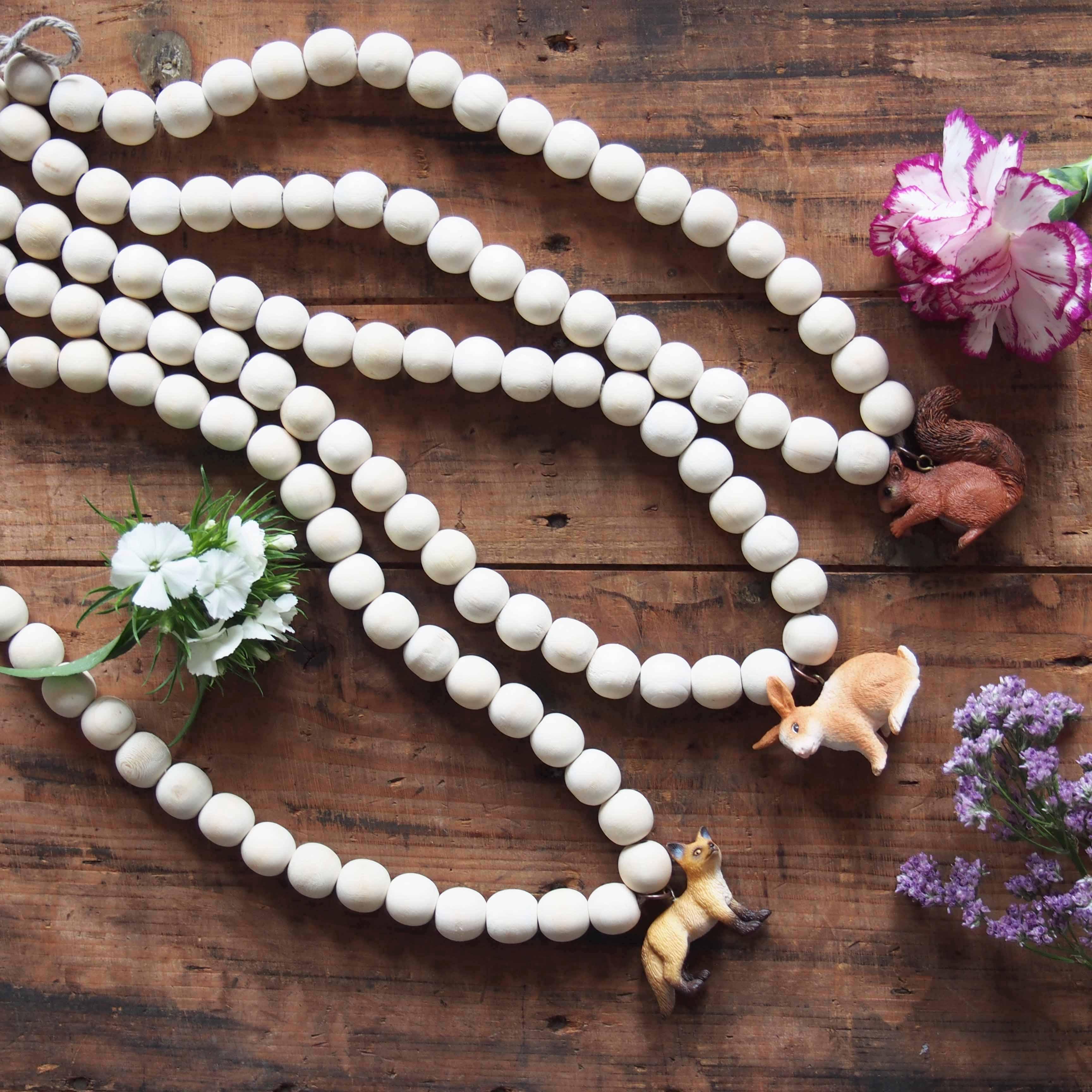 diy collier perle bois