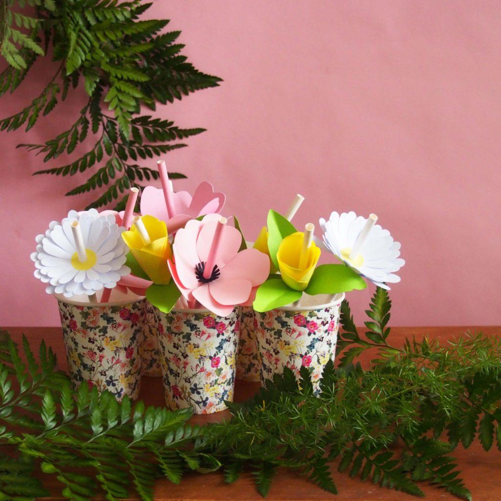 pailles fleurs