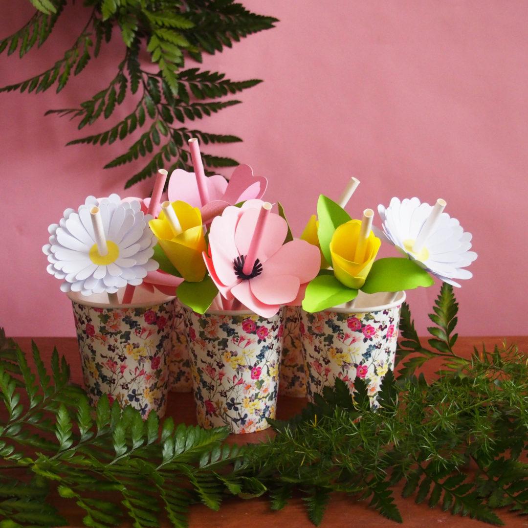pailles fleurs diy
