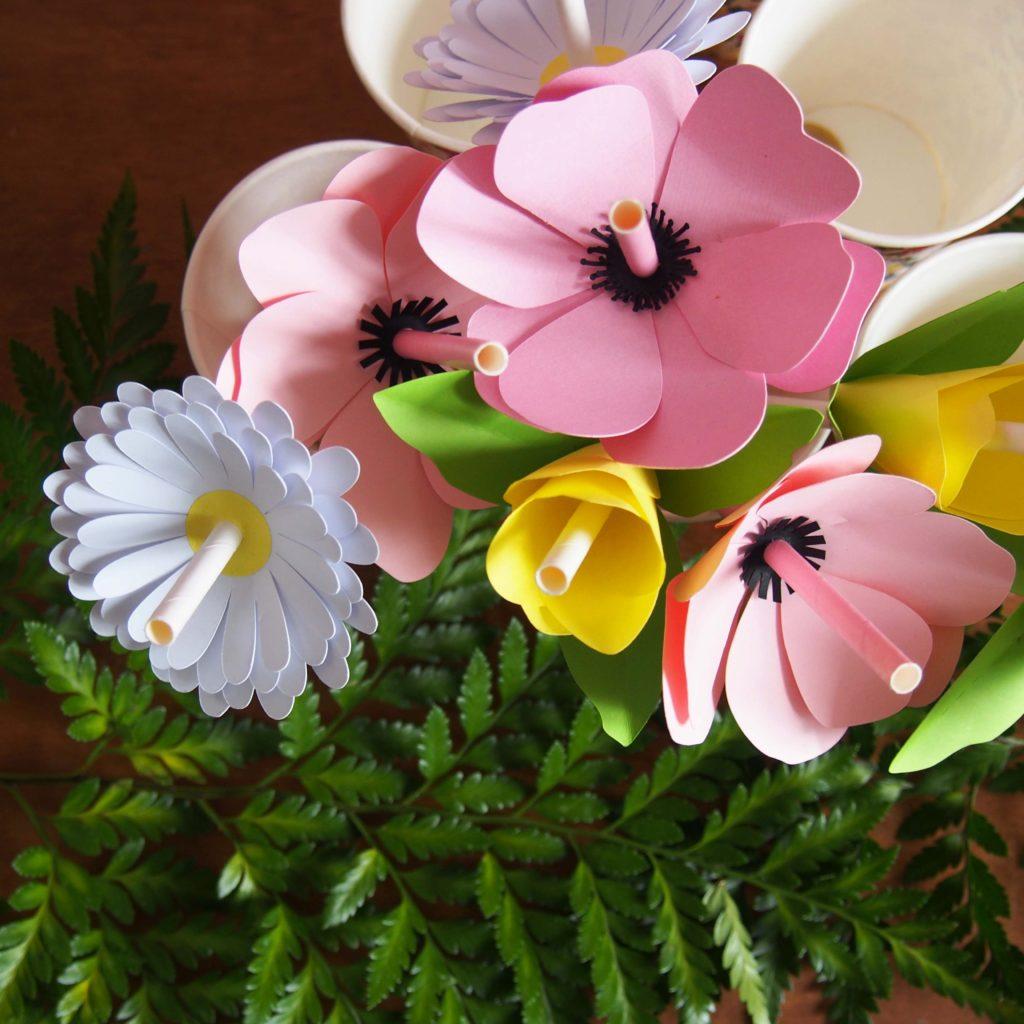 pailles fleurs déco