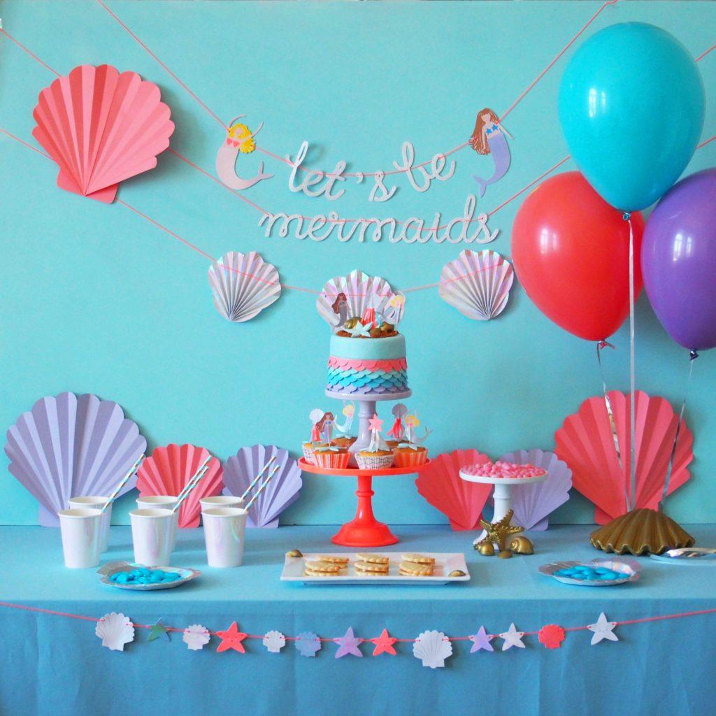 anniversaire thème sirène