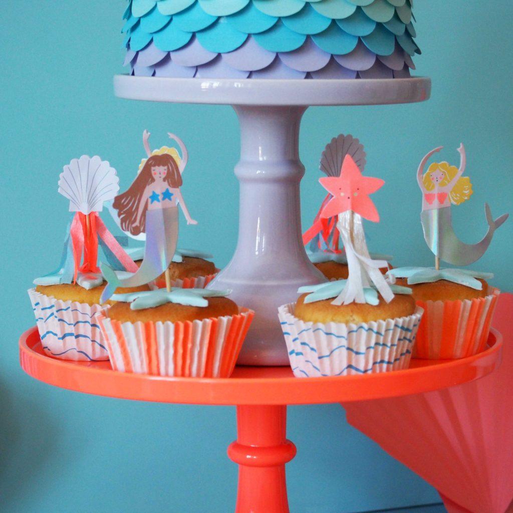 décoration cupcakes sirène