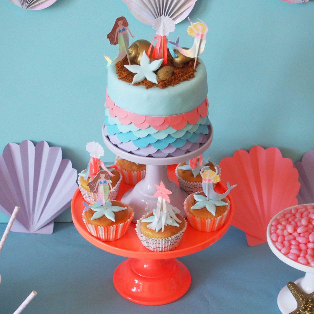 gâteau anniversaire sirène