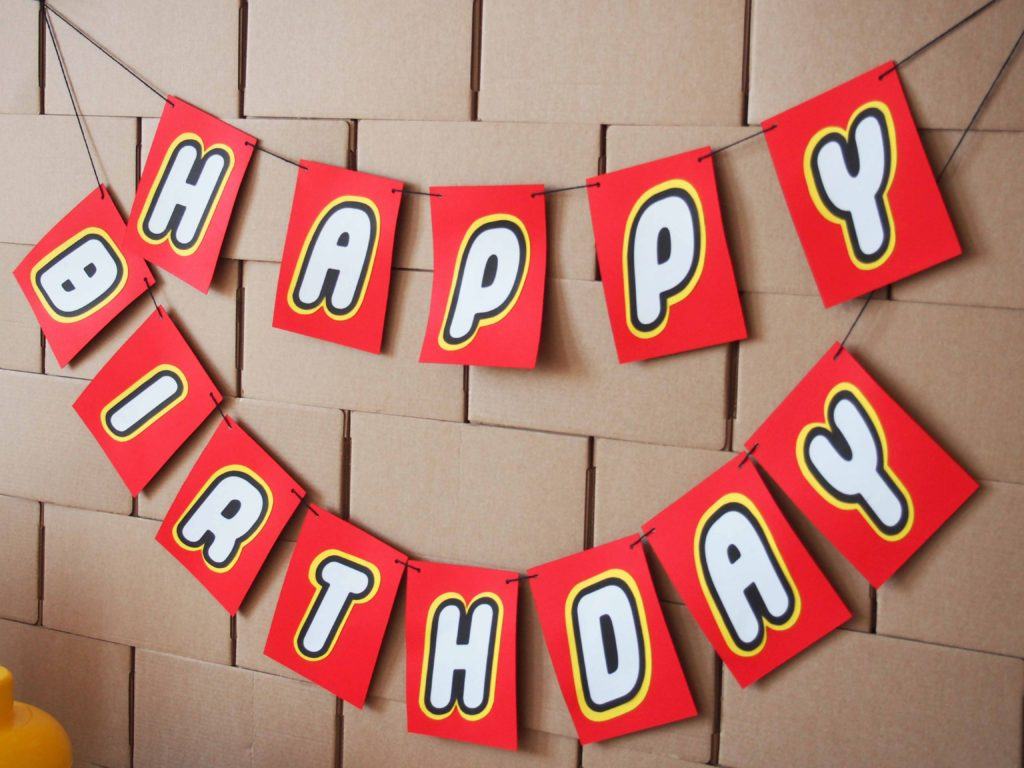 guirlande anniversaire lego