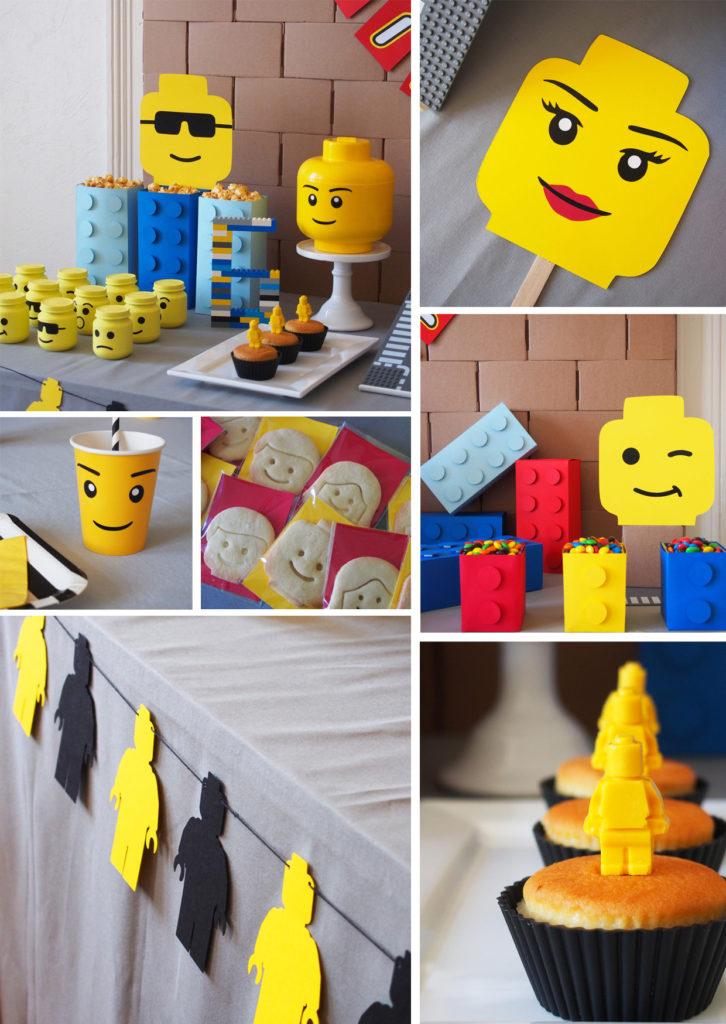 table anniversaire lego
