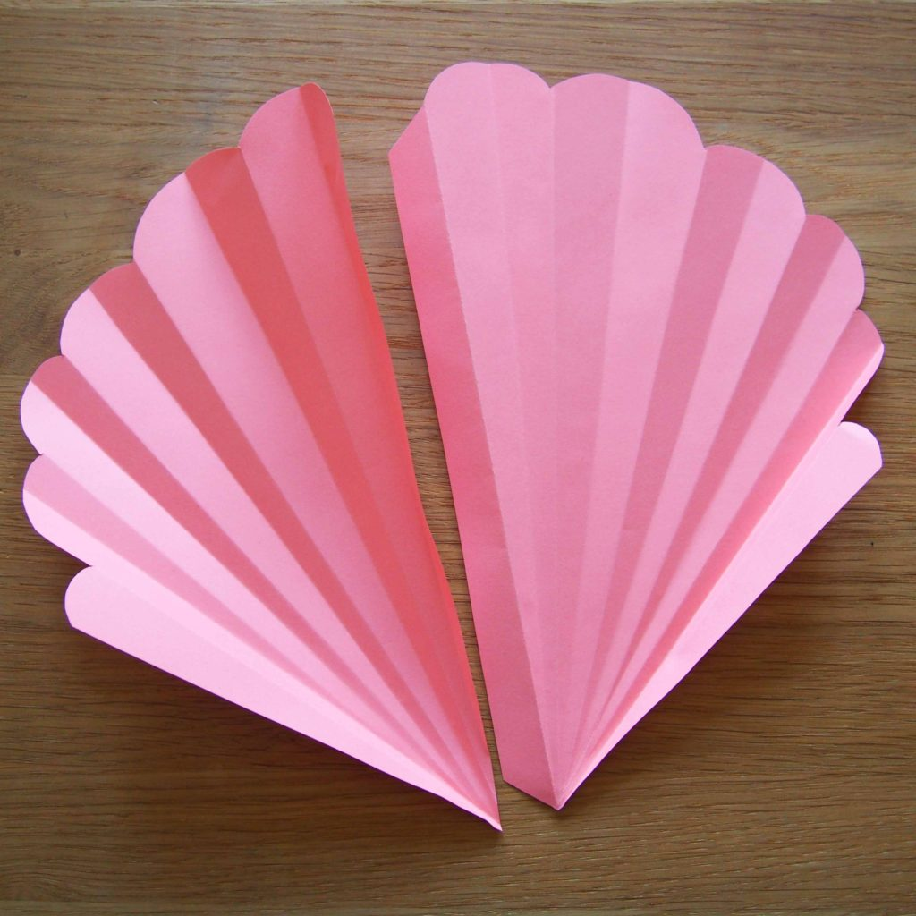coquillage papier tutoriel