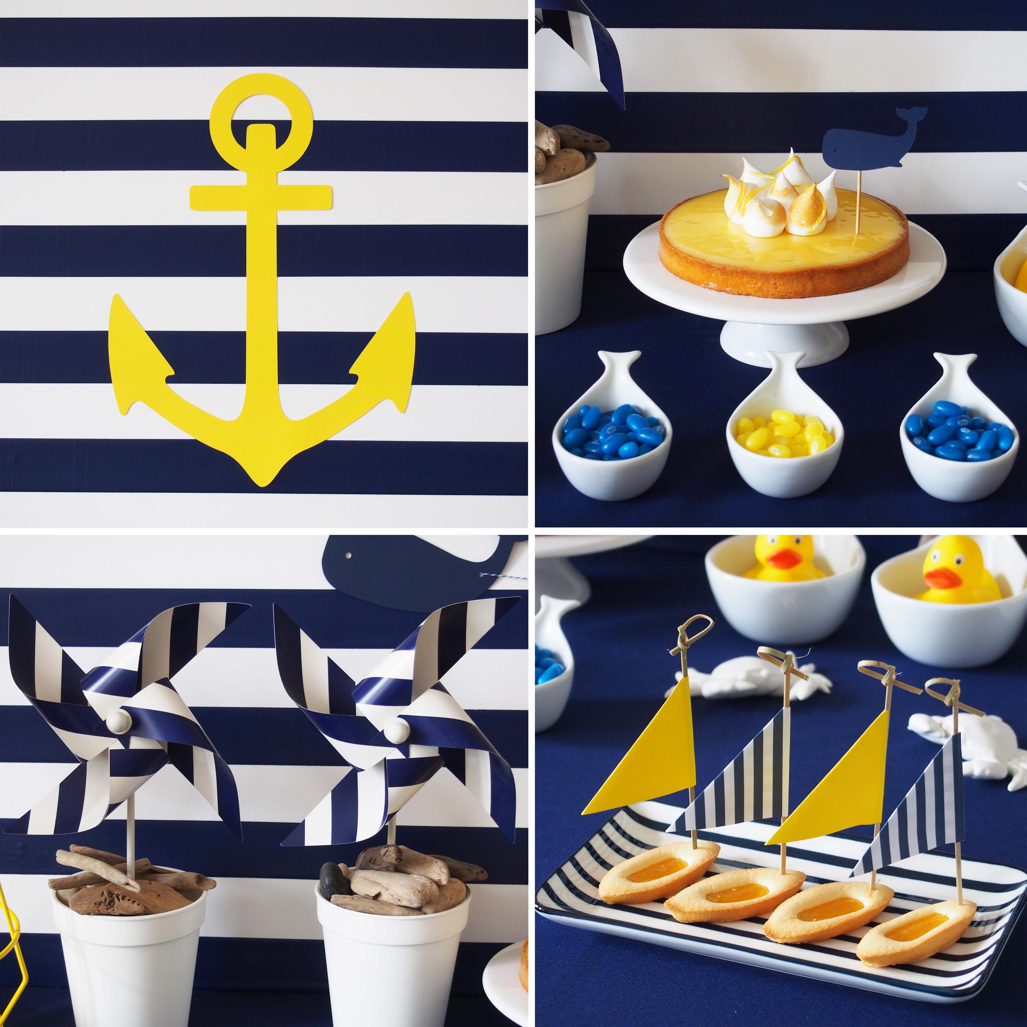 decoration anniversaire marin