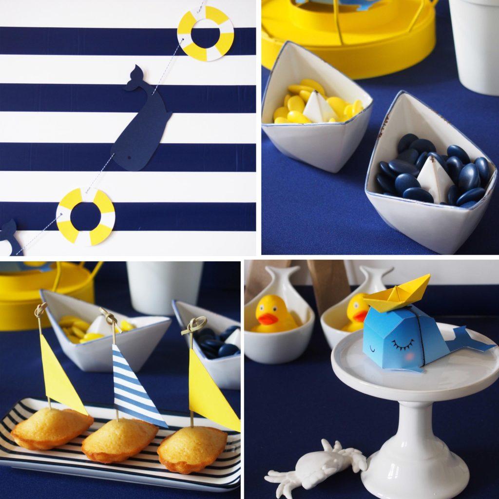 décoration anniversaire thème petit bateau