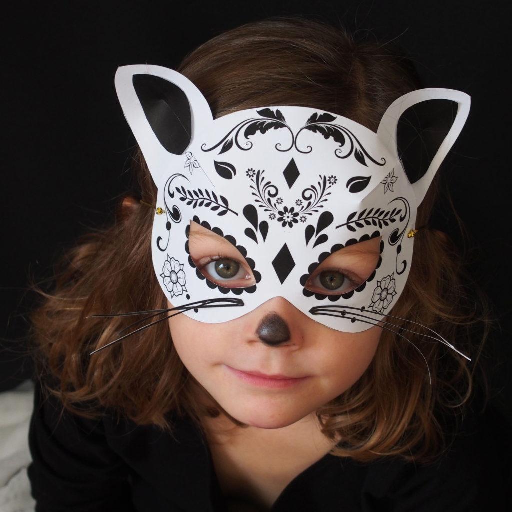 masque chat anniversaire