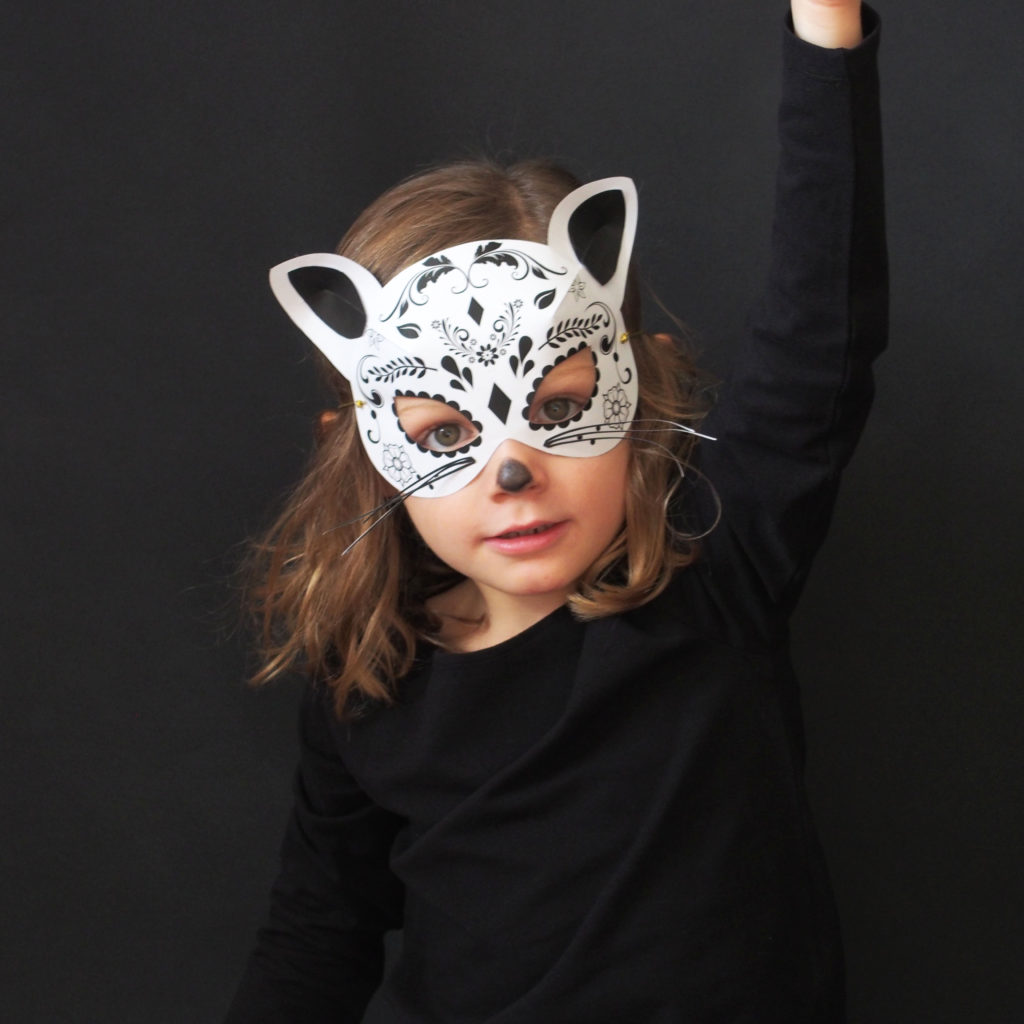 masque chat deguisement