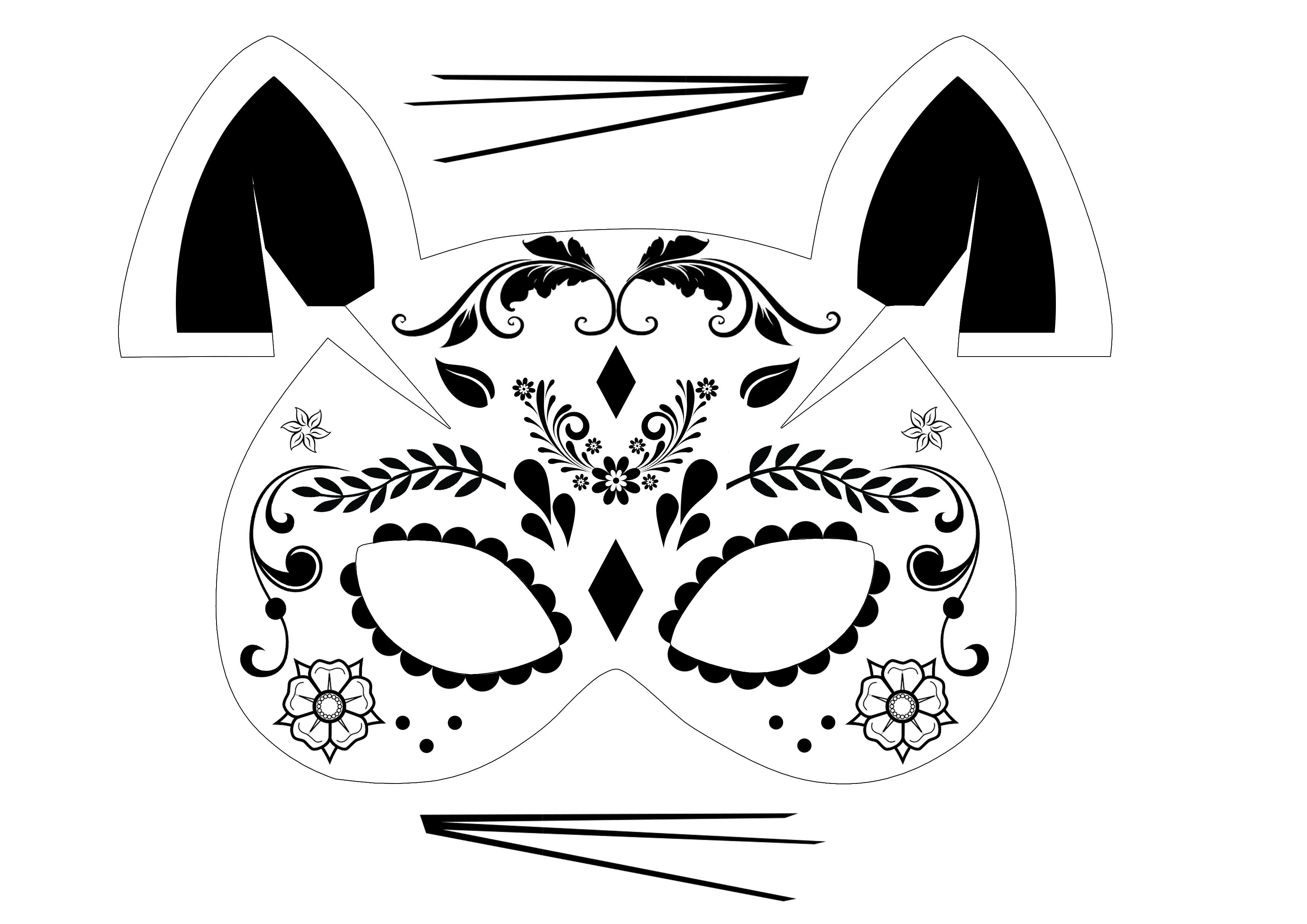 un masque chat pour halloween rose caramelle carnet d 39 inspiration. Black Bedroom Furniture Sets. Home Design Ideas