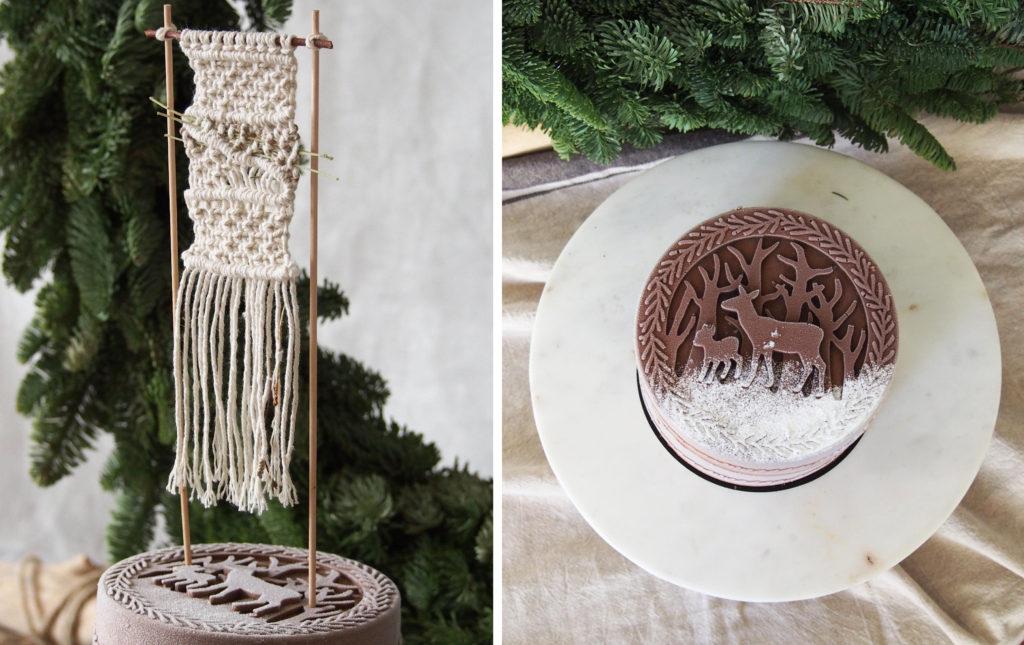 cake topper macramé