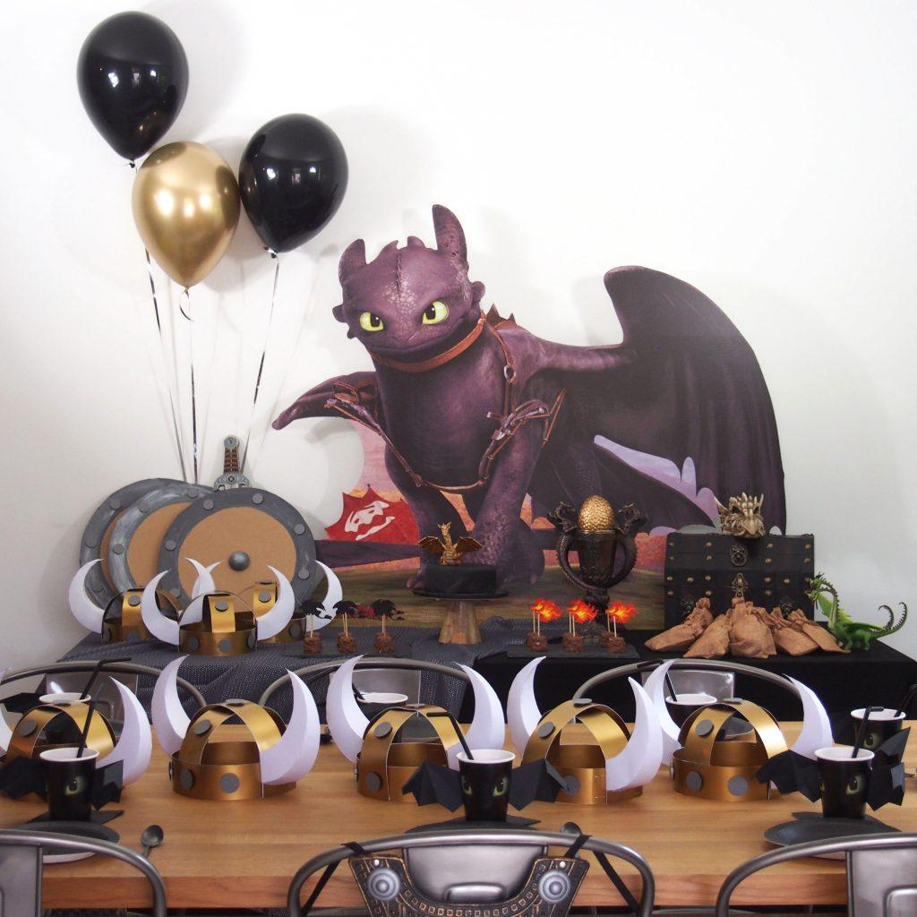 anniversaire thème dragon krokmou