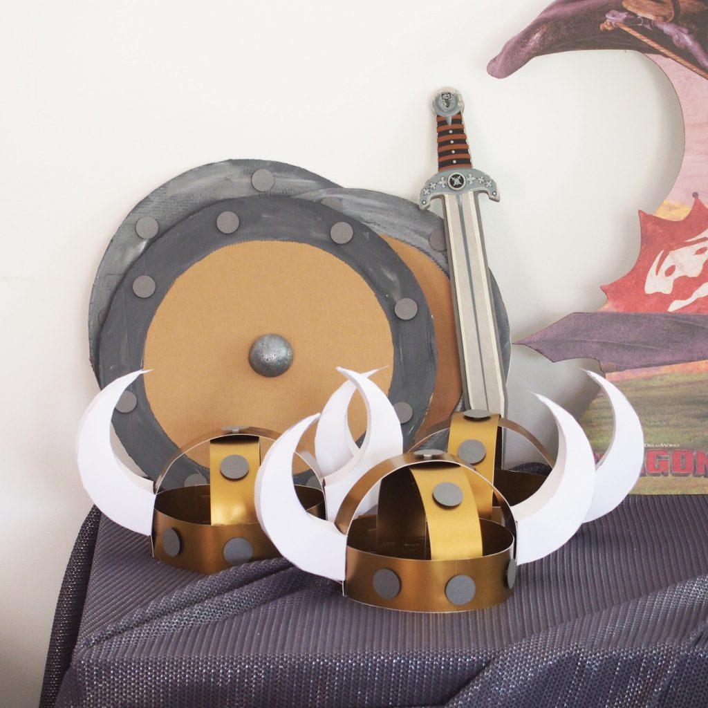 casques bouclier viking
