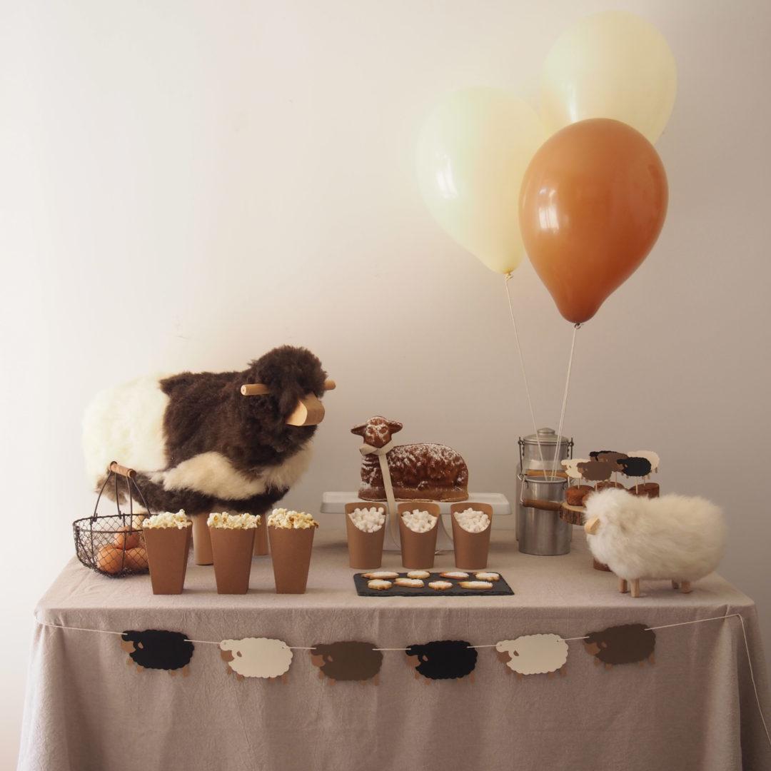 anniversaire thème mouton