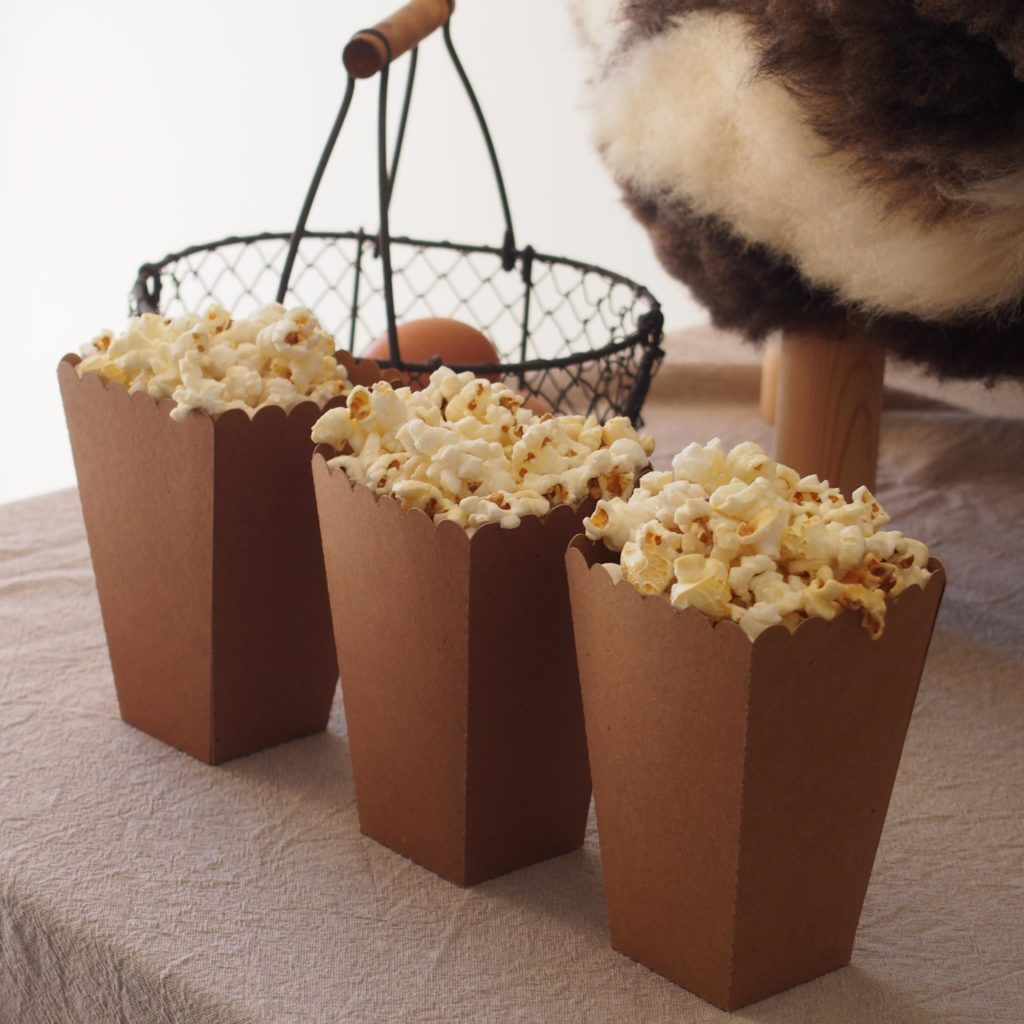 boîtes kraft popcorn