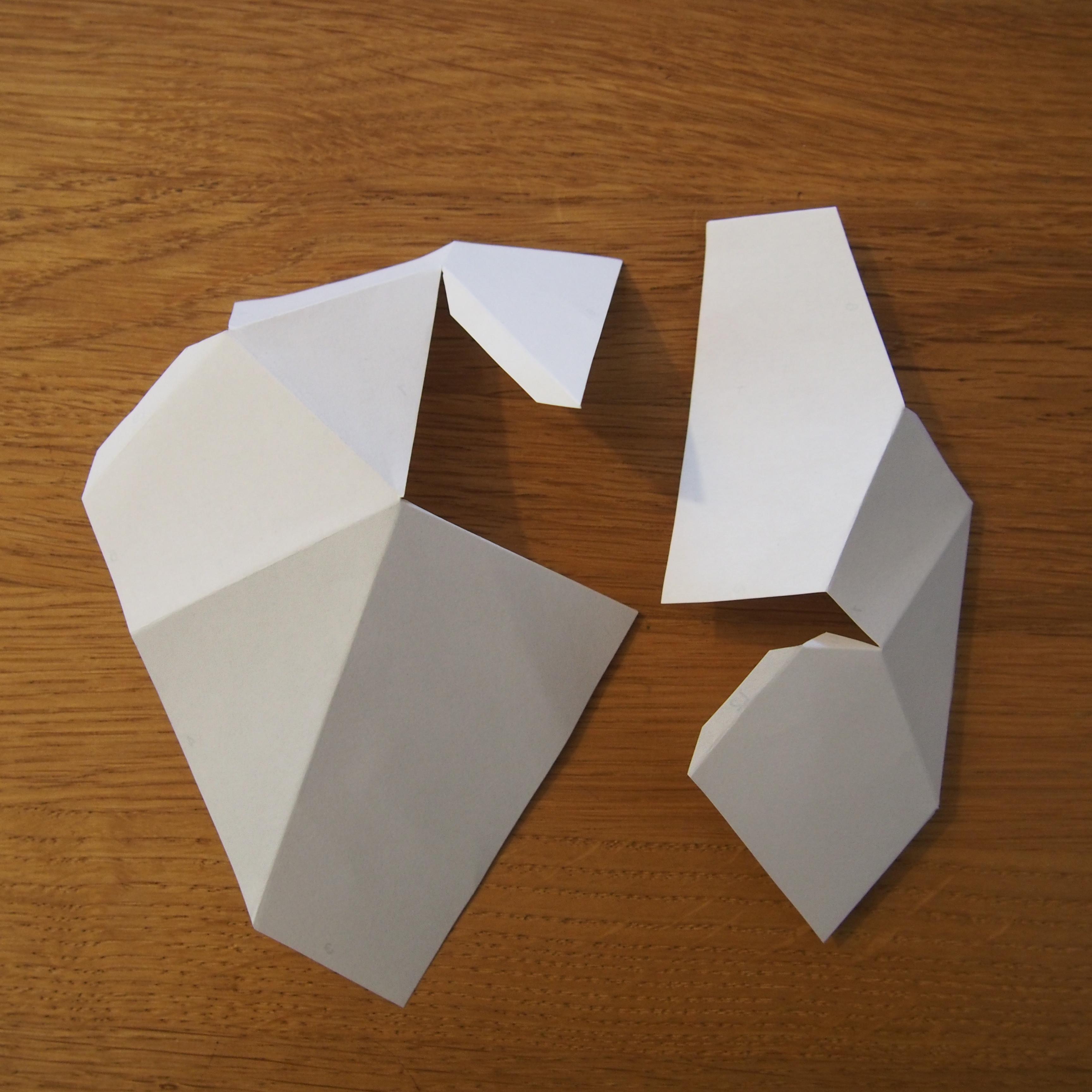 pliage papier iceberg
