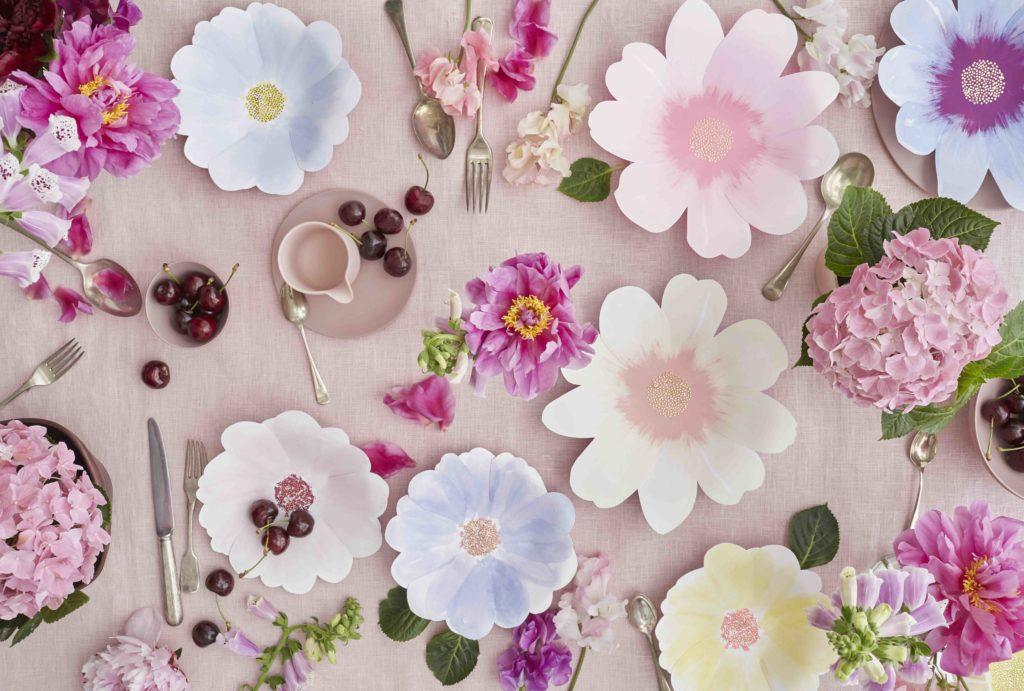 anniversaire thème fleurs
