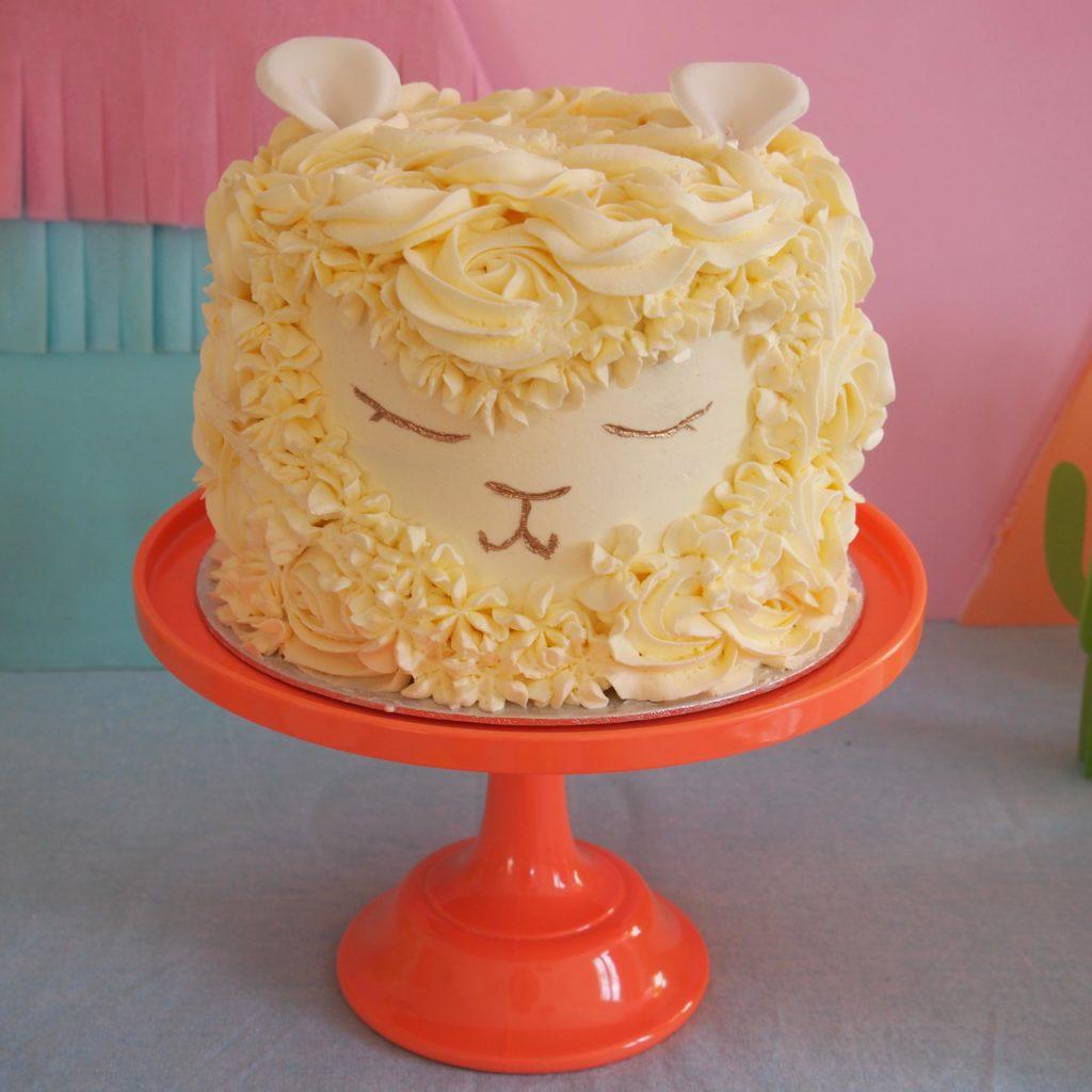 gâteau anniversaire lama