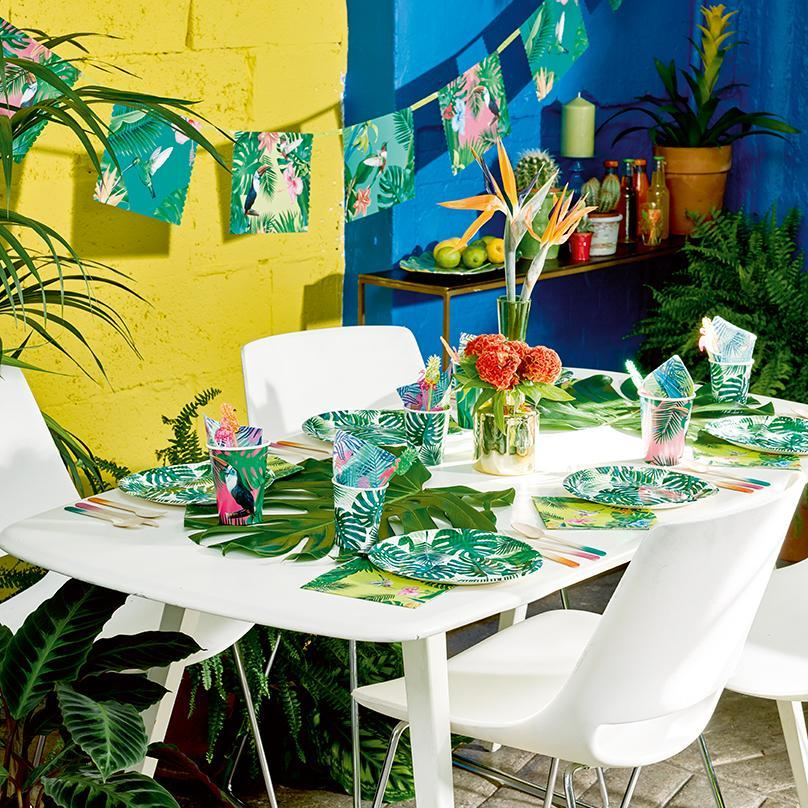 table anniversaire ambiance jungle