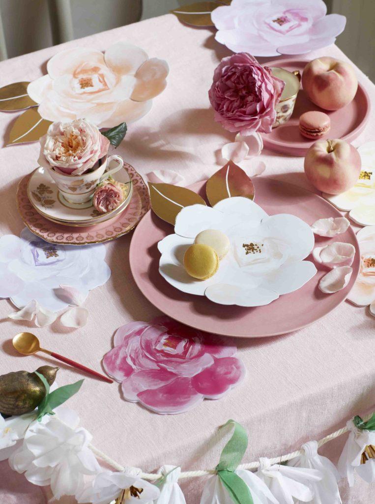 vaisselle assiettes rose