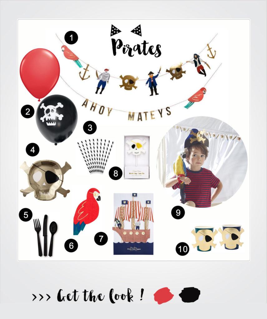 anniversaire thème pirate