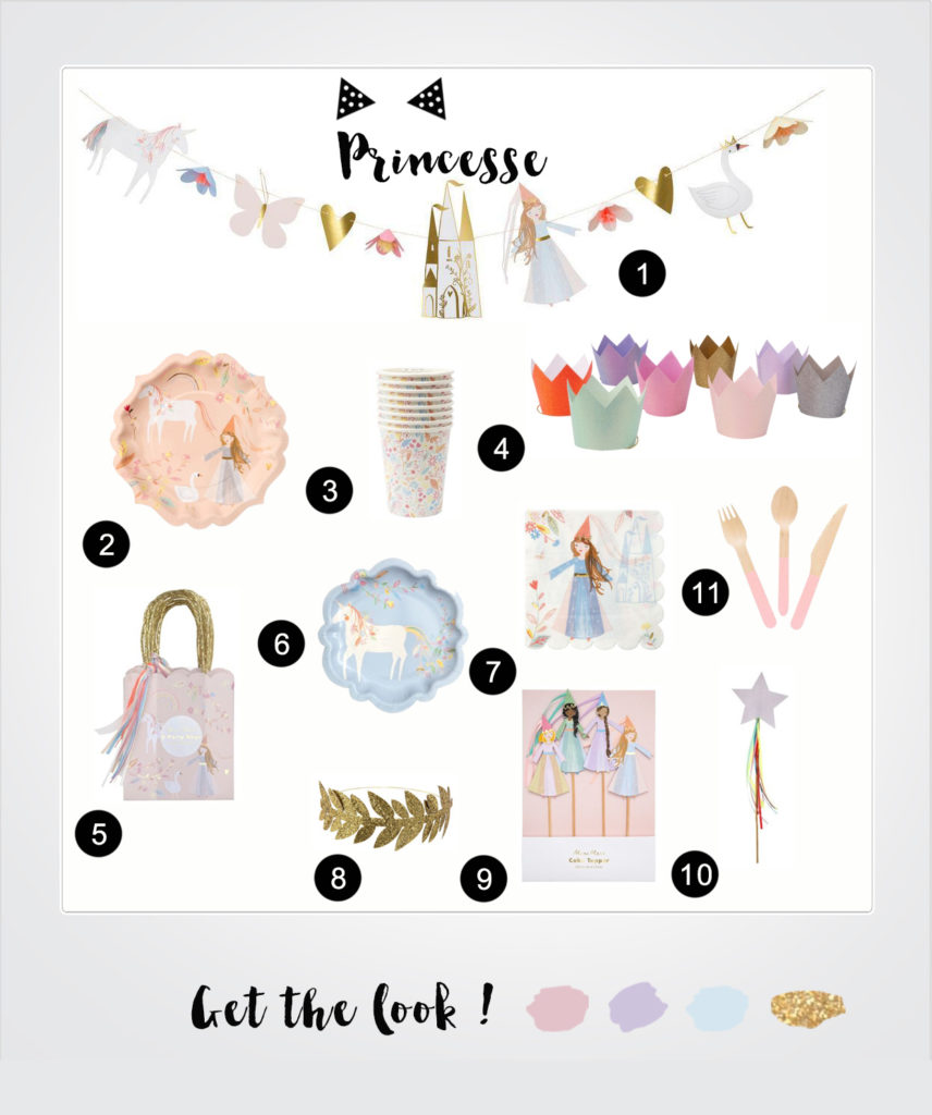 anniversaire thème princesse