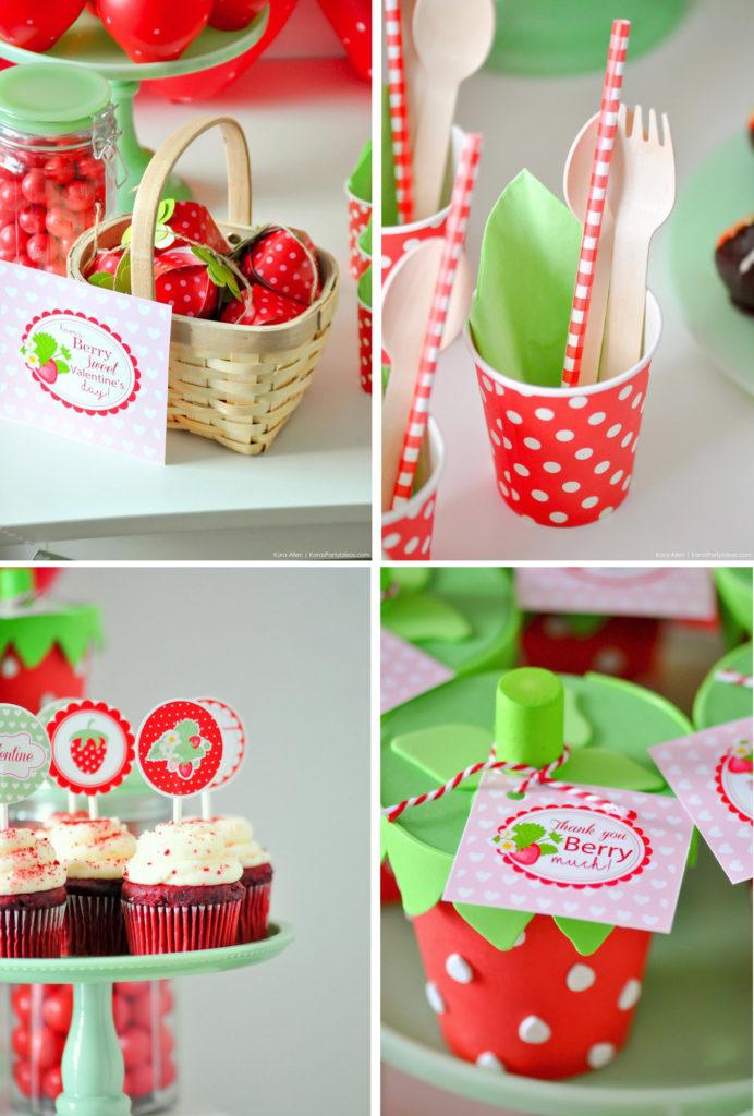 anniversaire idées déco thème fraises