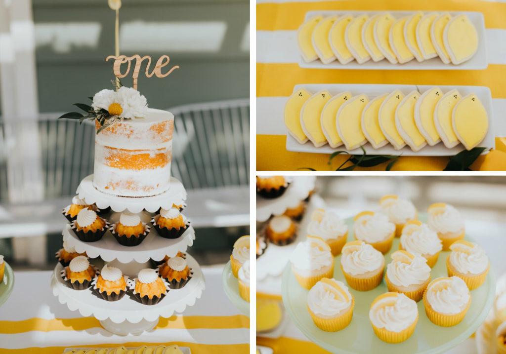 table anniversaire thème citrons