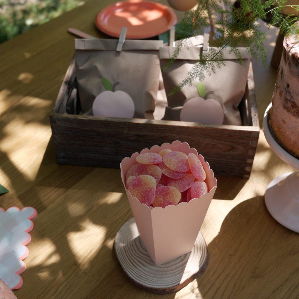 boîte popcorn rose blush