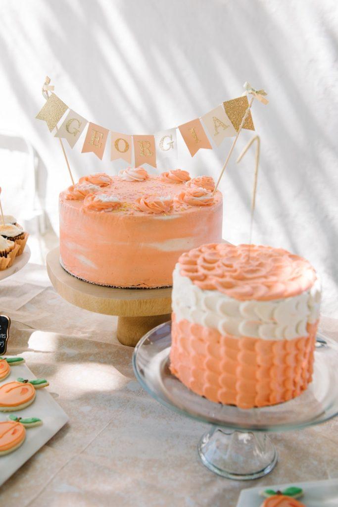 gâteau anniversaire thème pêche