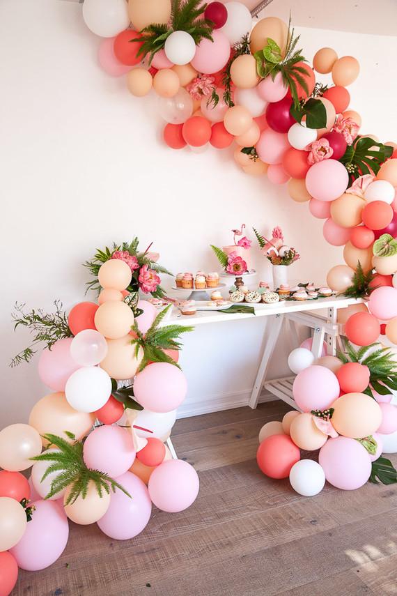 anniversaire déco flamant rose