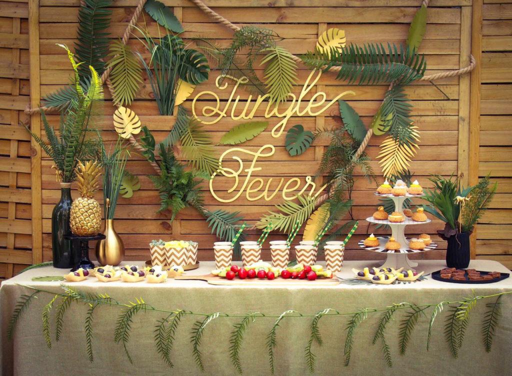 anniversaire thème jungle
