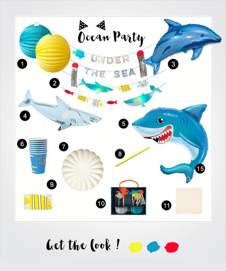 anniversaire thème océan