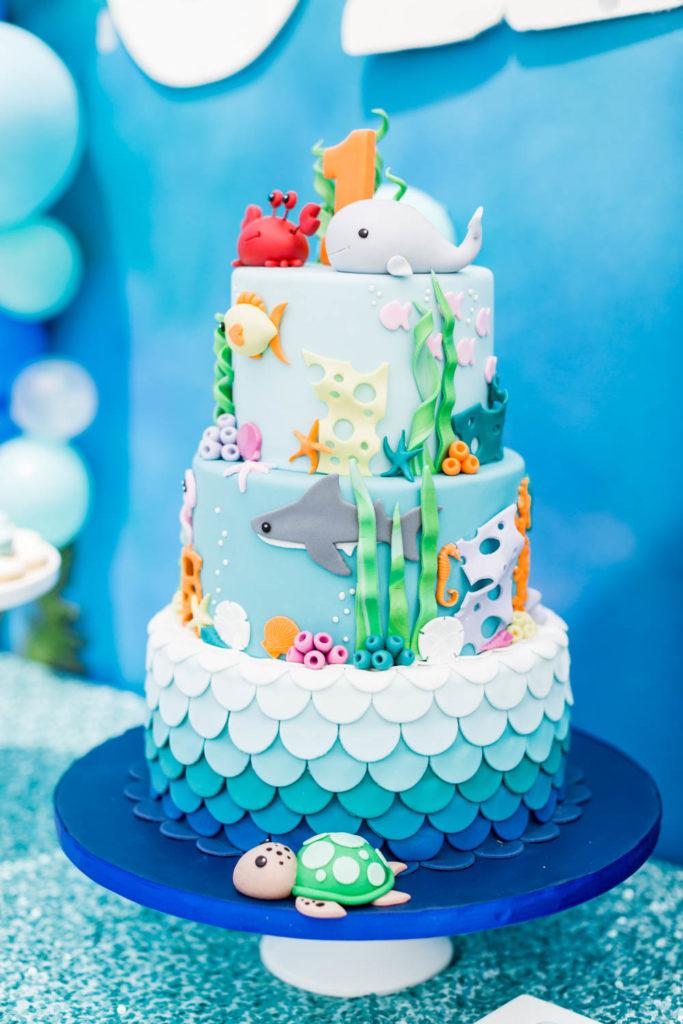 gâteau thème océan