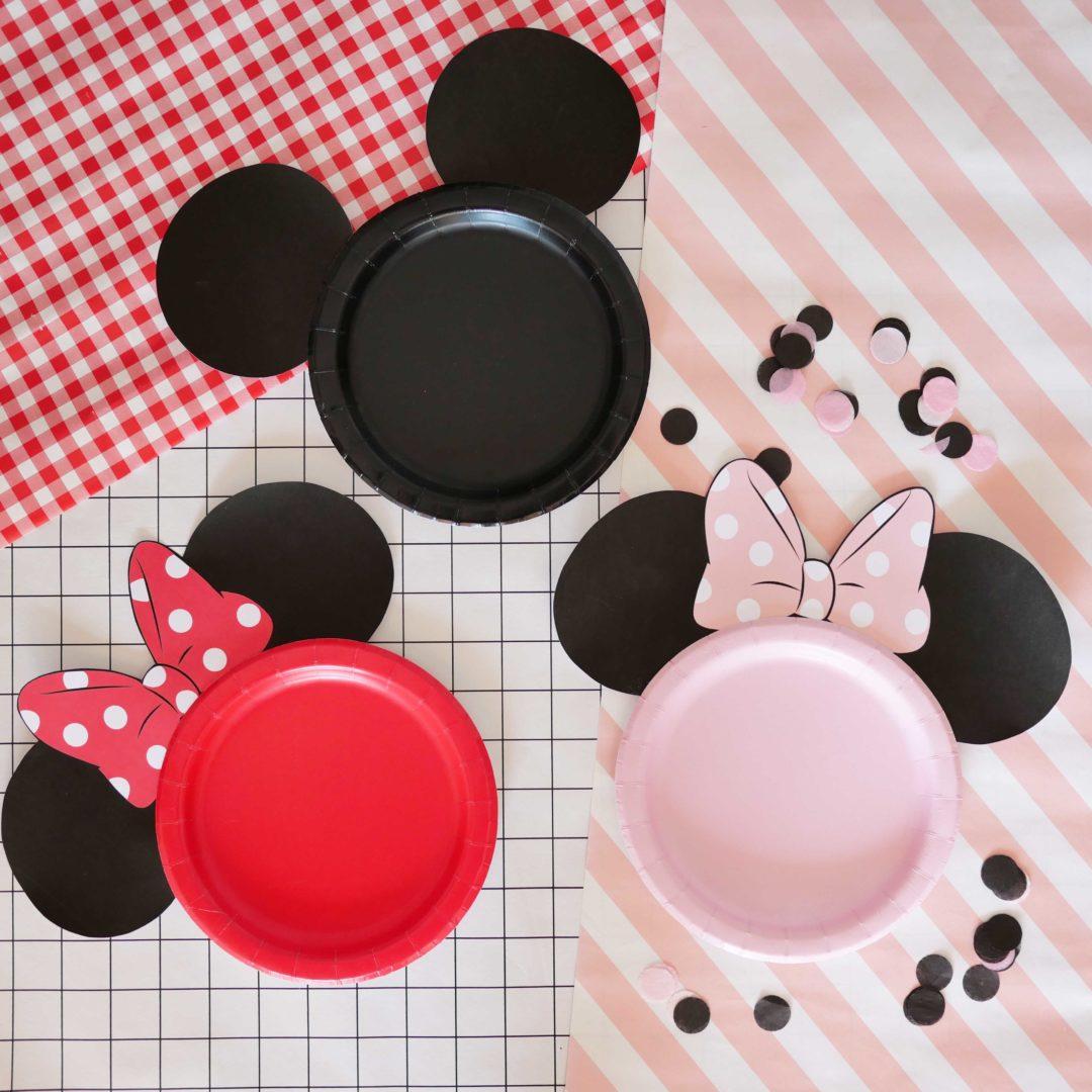 assiettes anniversaire Mickey Minnie