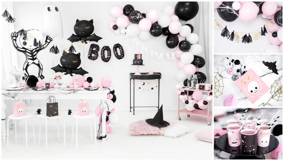 déco halloween rose et noir