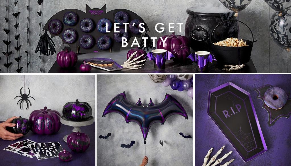 décoration Halloween noir et violet