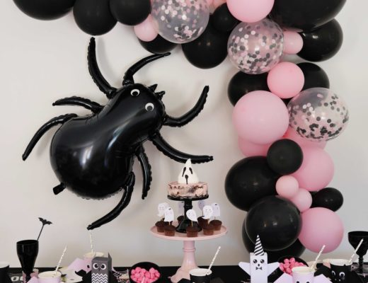 décoration halloween rose noir
