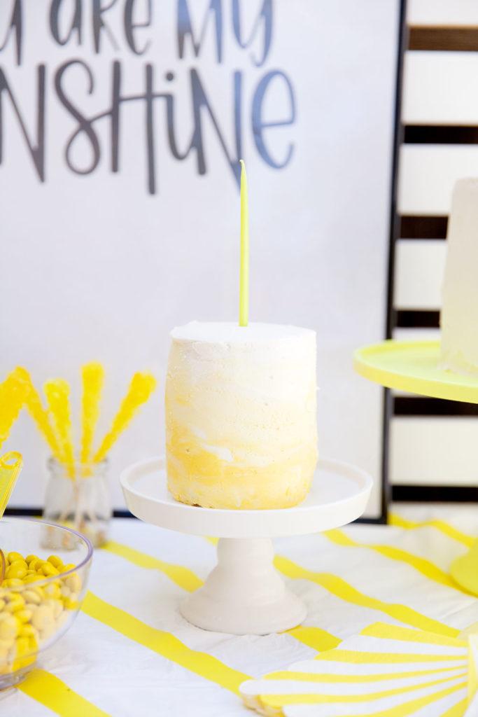 gâteau anniversaire thème soleil