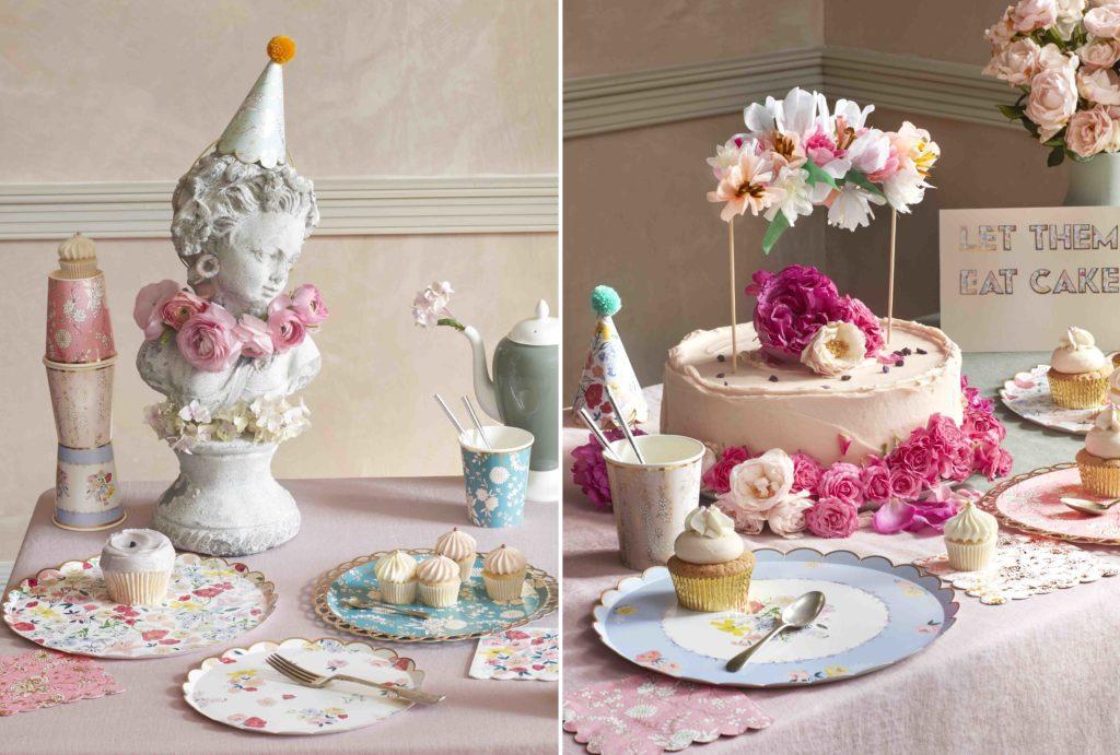 anniversaire cake topper fleurs