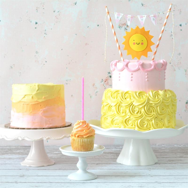 anniversaire gâteau soleil