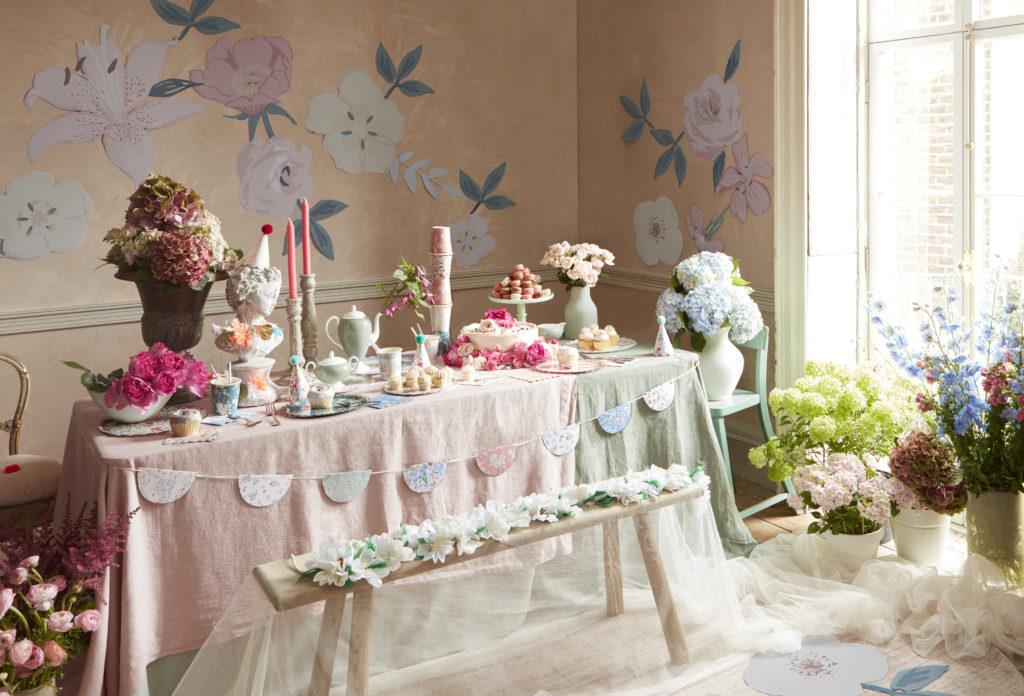 anniversaire thème jardin anglais