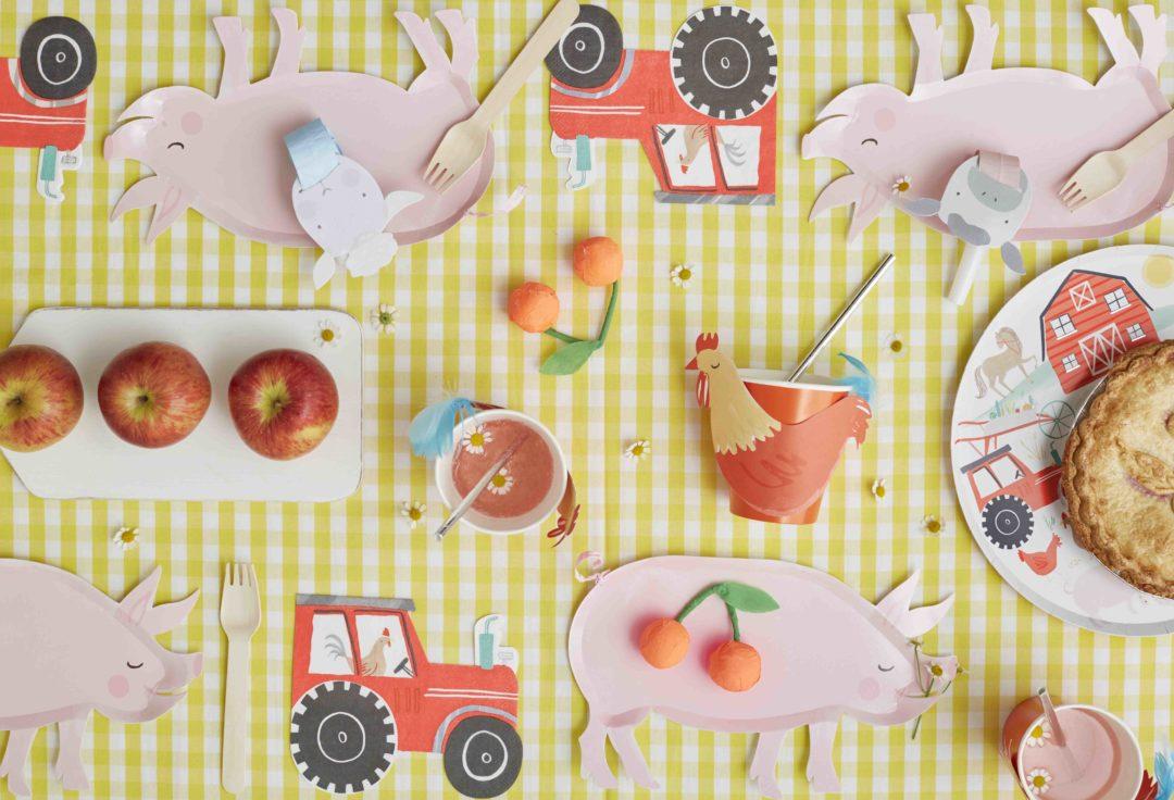 table anniversaire thème ferme