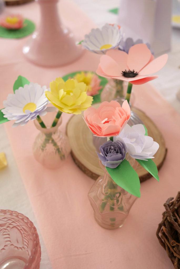 Déco fleurs en papier