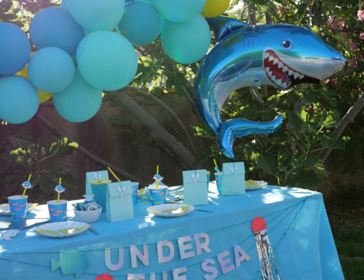 anniversaire thème requin