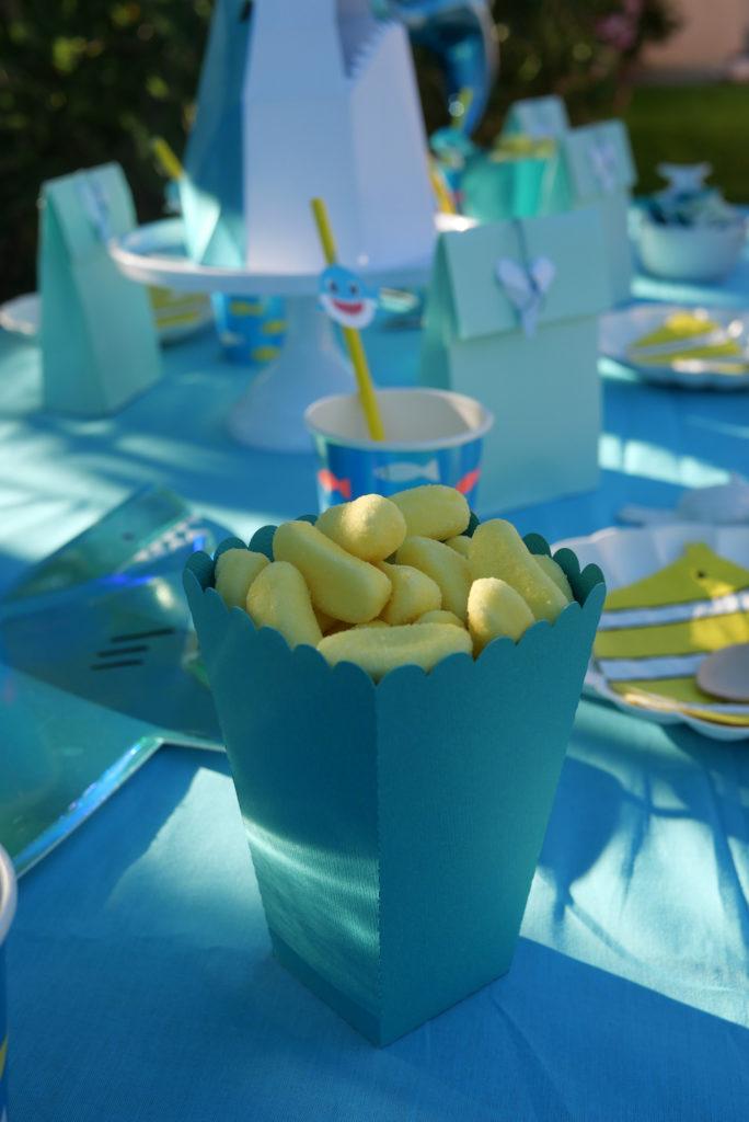 boîte popcorn anniversaire requin